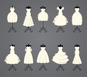 Wedding dresses in different styles