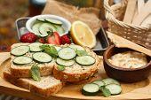 Cucumber Sandwich On Wholewheat Bread