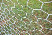 Abstract Soccer Goal Net Pattern