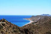 Rugged coastline, Mojacar.