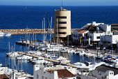 Roquetas de Mar Harbour.