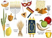 image of ear candle  - Jewish holidays icons Israeli holidays  - JPG