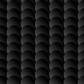 Abstract 3D Seamless Pattern With Black Circles.