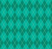 Seamless Green Argyle Pattern