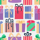 Background Of Cute Colorful Gift Boxes