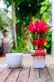 Cup Of Coffee And Flower