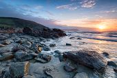 Dramatic Sunrise On The Cornwall Coast