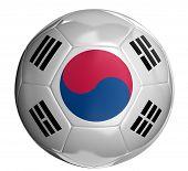 Soccer ball with South Korean flag