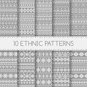 Set Of Ethnic Seamless Patterns.