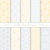 Set Of Ten Seamless Modern Patterns.