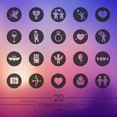 Set of Valentine's Day icons