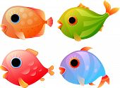 Cartoon tropical fishes