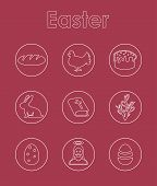 Set of easter simple icons