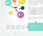 Step By Step Template. Numbered Chart. Infographic Element.
