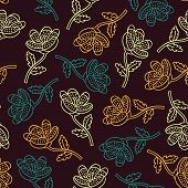 Royal outline floral pattern
