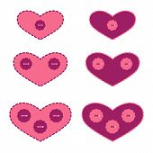 Set Of Applique Hearts