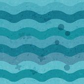 Sea abstract background of blue waves beach resort concept. Vintage hipster style.