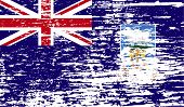 image of falklands  - Flag of Falkland Islands with old texture - JPG