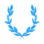 Watercolor Laurel Wreath.