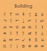 Set of building simple icons