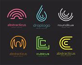 Abstract vector logo set template for branding and design