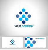 Blue Dots Business Logo