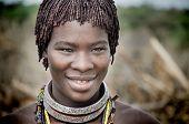 Ethiopia, Portrait Of Unidentified Hamer Woman