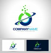 pic of logo  - Circle Logo Design with Swash and blue green colors - JPG