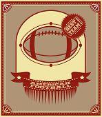 American Football Retro Poster.