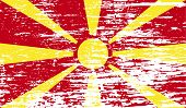 stock photo of macedonia  - Flag of Macedonia with old texture - JPG