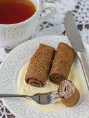 Homemade Chocolate Pancakes