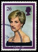 Princess Diana Uk Postage Stamp