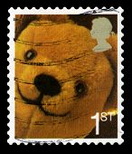 Used British Postage Stamp Of A Teddy Bear