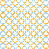 Stars In Round Pattern In Blue And Orange Colors