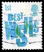 Best Wishes Used Postage Stamp