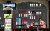A Funny Day at the Internet Cafe (Nighttime)