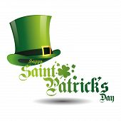 an isolated traditional hat and text for patrick's day