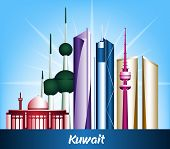 Colorful City of Kuwait Famous Buildings