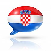 Croatian Flag Speech Bubble