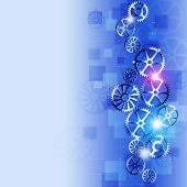 Busines Gears Abstract Blue Background