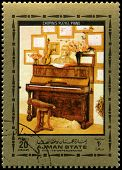 Frederic Chopin's Piano Used Postage Stamp