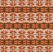 Warm Tones Ethnic Textile Pattern