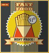Fast Food Menu. Hot Fries.