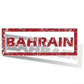 image of bahrain  - Outlined red stamp with country name Bahrain - JPG