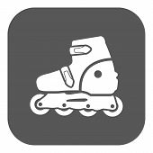 picture of roller-skating  - The roller skate icon - JPG