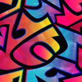 picture of psychedelic  - psychedelic geometric seamless pattern  - JPG