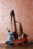 image of saxophones  - Electric guitar - JPG