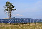 foto of bohemia  - production of electricity by photovoltaic panels South Bohemia Czech Republic - JPG
