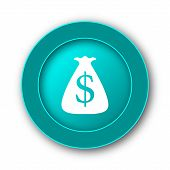 foto of sack dollar  - Dollar sack icon - JPG