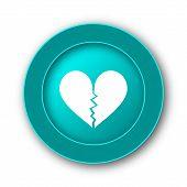 stock photo of heartbreak  - Broken heart icon - JPG